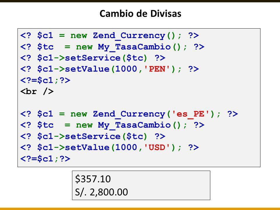 Cambio de Divisas setService($tc) ?> setValue(1000,'PEN'); ?> setService($tc) ?> setValue(1000,'USD'); ?> $357.10 S/. 2,800.00