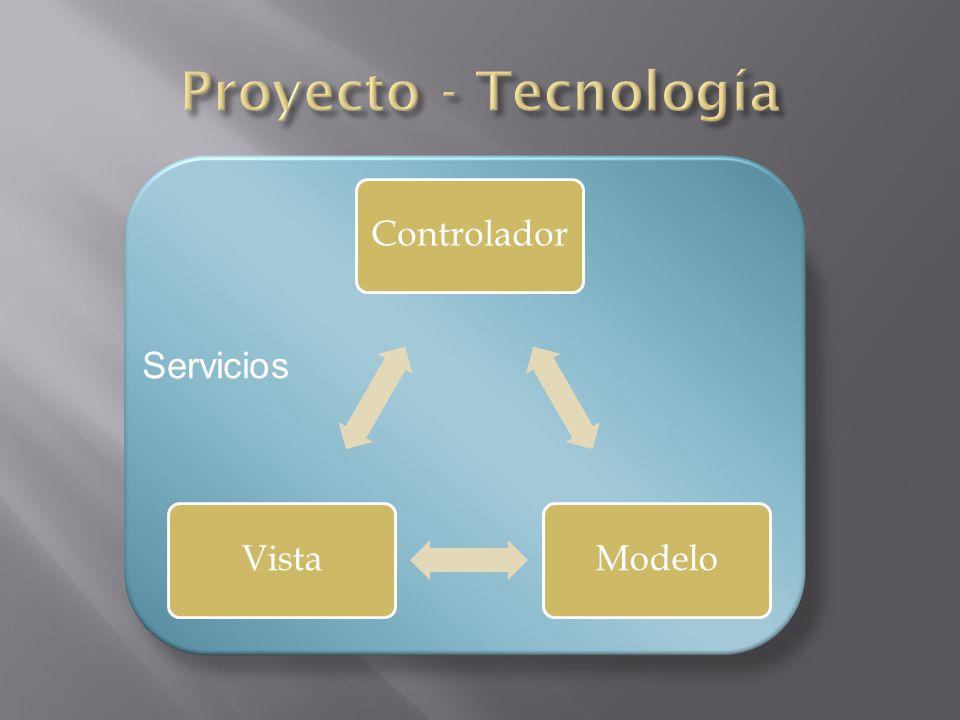 ControladorModeloVista Servicios