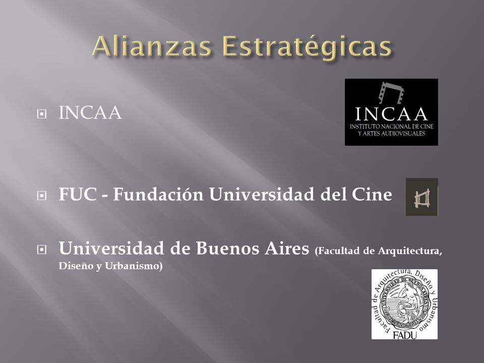 INCAA FUC - Fundación Universidad del Cine Universidad de Buenos Aires (Facultad de Arquitectura, Diseño y Urbanismo)