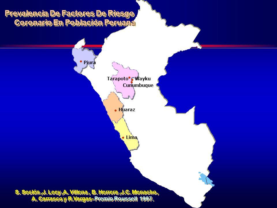 Lima Tarapoto Piura Huaraz Wayku Cunumbuque S.Seclén,J.