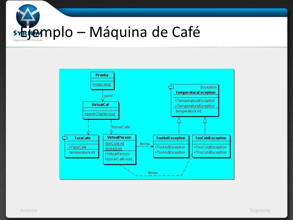 AnteriorSiguiente Ejemplo – Máquina de Café