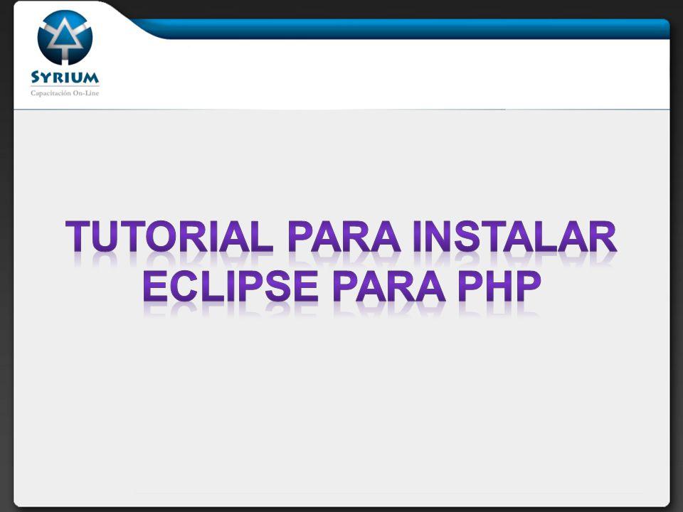 En este tutorial veremos como descargar e instalar el Entorno de Desarrollo Eclipse para trabajar con PHP.
