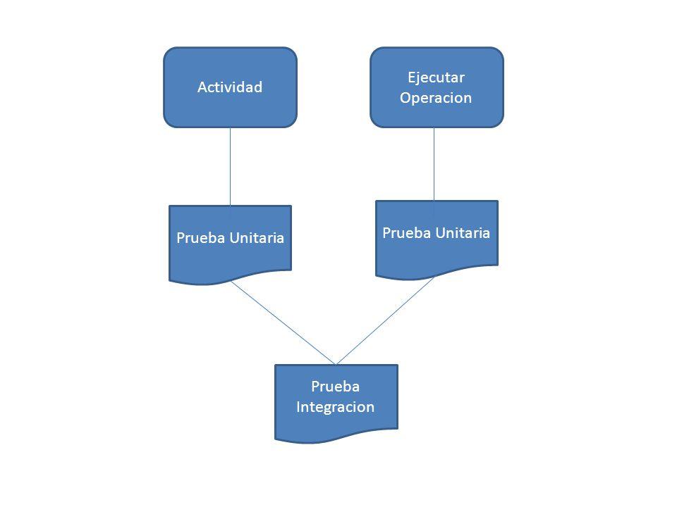 Actividad Ejecutar Operacion Prueba Unitaria Prueba Integracion