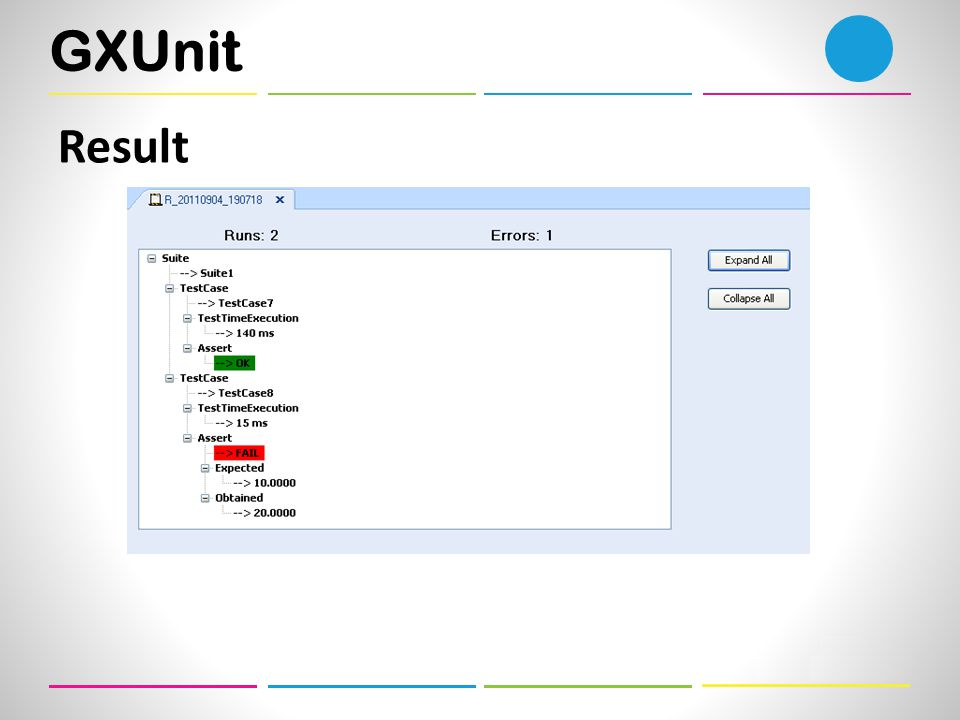 GXUnit Result
