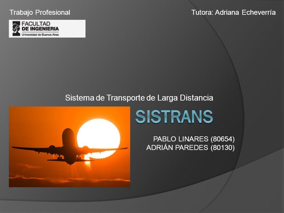 Sistema de Transporte de Larga Distancia PABLO LINARES (80654) ADRIÁN PAREDES (80130) Trabajo ProfesionalTutora: Adriana Echeverría
