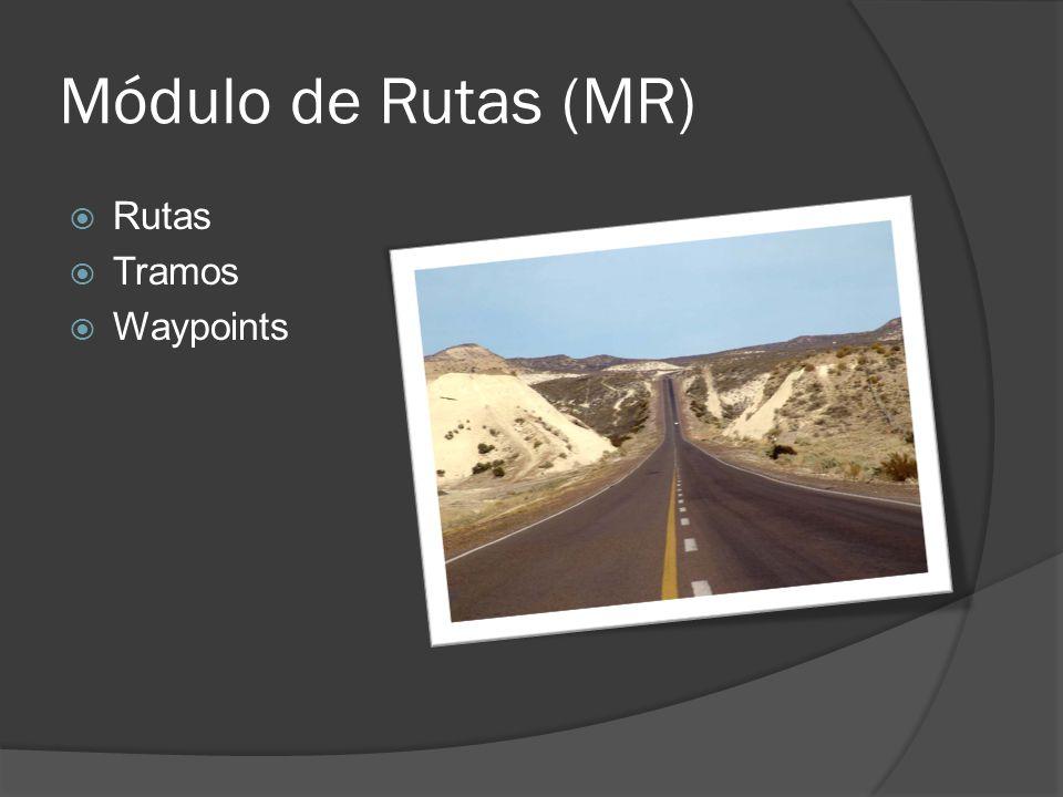 Módulo de Rutas (MR) Rutas Tramos Waypoints