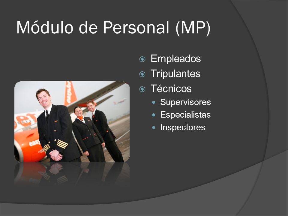 Módulo de Personal (MP) Empleados Tripulantes Técnicos Supervisores Especialistas Inspectores