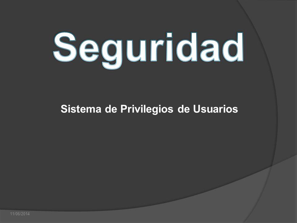 11/06/2014 Sistema de Privilegios de Usuarios