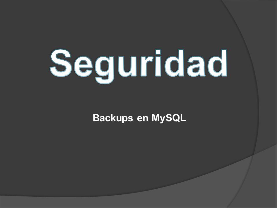Backups en MySQL