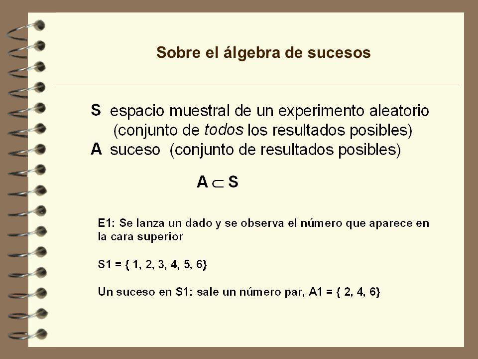 Sobre el álgebra de sucesos