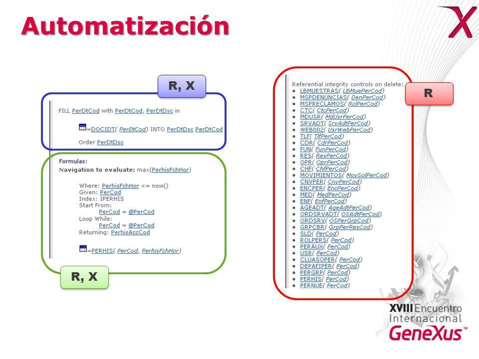 Automatización R R R, X