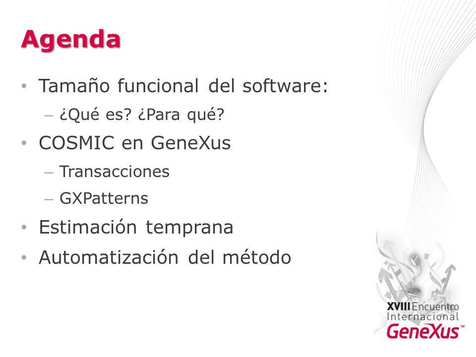Agenda Tamaño funcional del software: – ¿Qué es.¿Para qué.