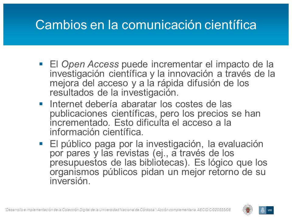 Desarrollo e implementación de la Colección Digital de la Universidad Nacional de Córdoba: Acción complementaria AECID C/020555/08 Portal DRIVER