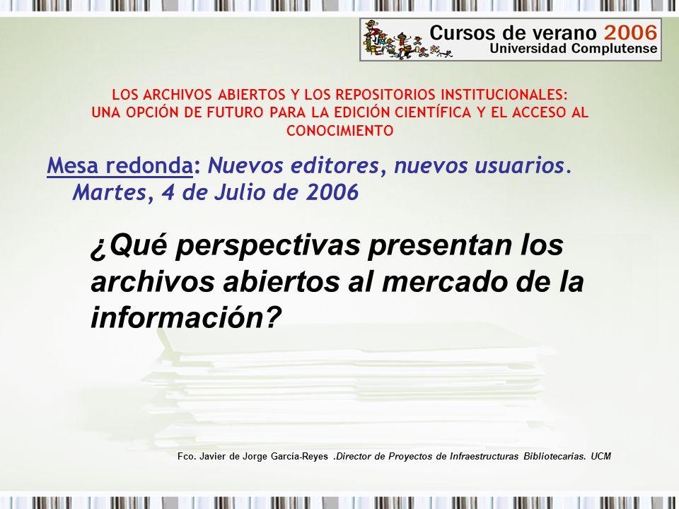 LOS ARCHIVOS ABIERTOS Y LOS REPOSITORIOS INSTITUCIONALES: UNA OPCIÓN DE FUTURO PARA LA EDICIÓN CIENTÍFICA Y EL ACCESO AL CONOCIMIENTO Mesa redonda: Nuevos editores, nuevos usuarios ESTRATÉGIAS EDITORIALES (2) El lobby editorial utiliza ahora la opción de pago por OA, como una forma mas todavía de intentar retrasar la Adopción de los mandatos de auto archivo Open Access La promesa de los editores de que con el pago por OA irán escalando un descenso en sus precios no se sustenta.