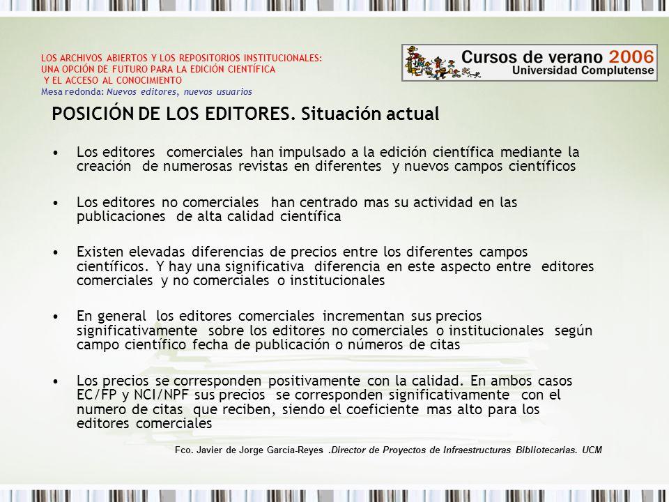 POSICIÓN DE LOS EDITORES.