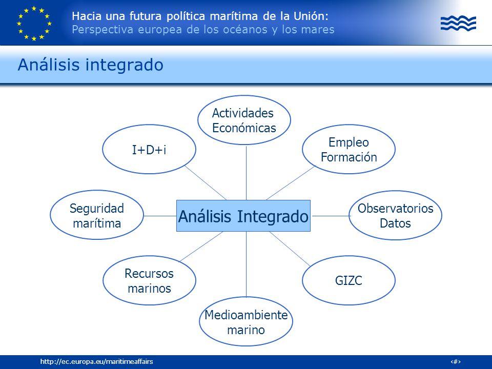Hacia una futura política marítima de la Unión: Perspectiva europea de los océanos y los mares 10http://ec.europa.eu/maritimeaffairs Seguridad marítim