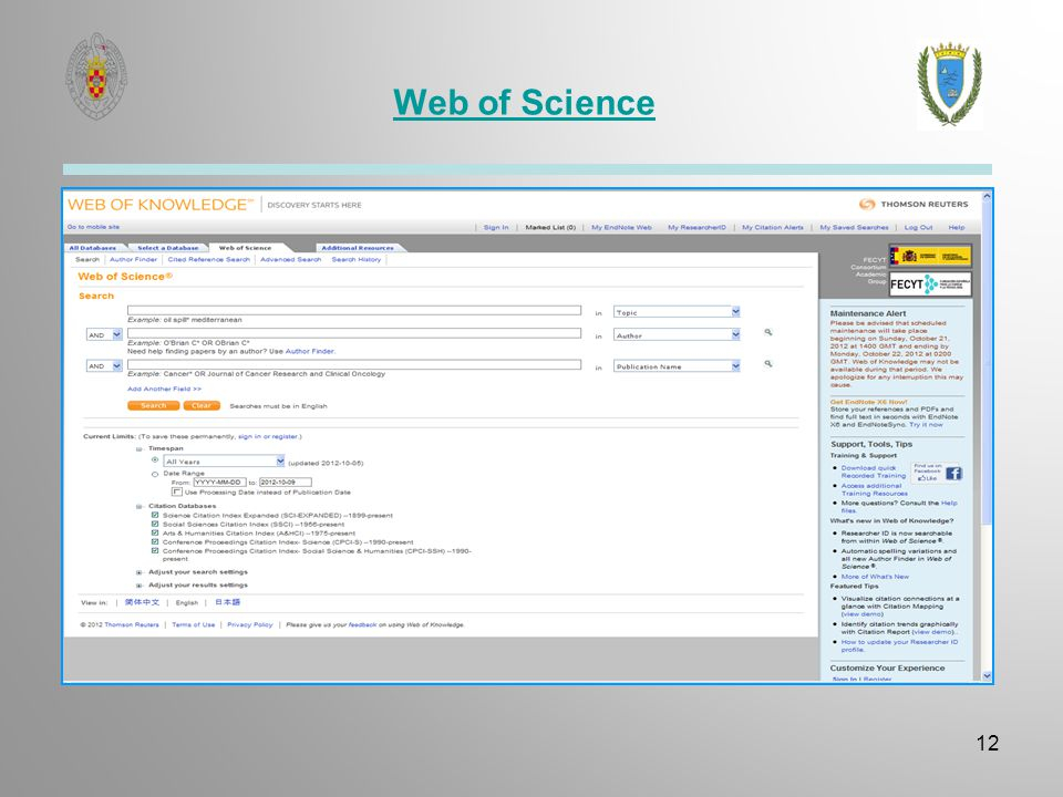 Web of Science 12