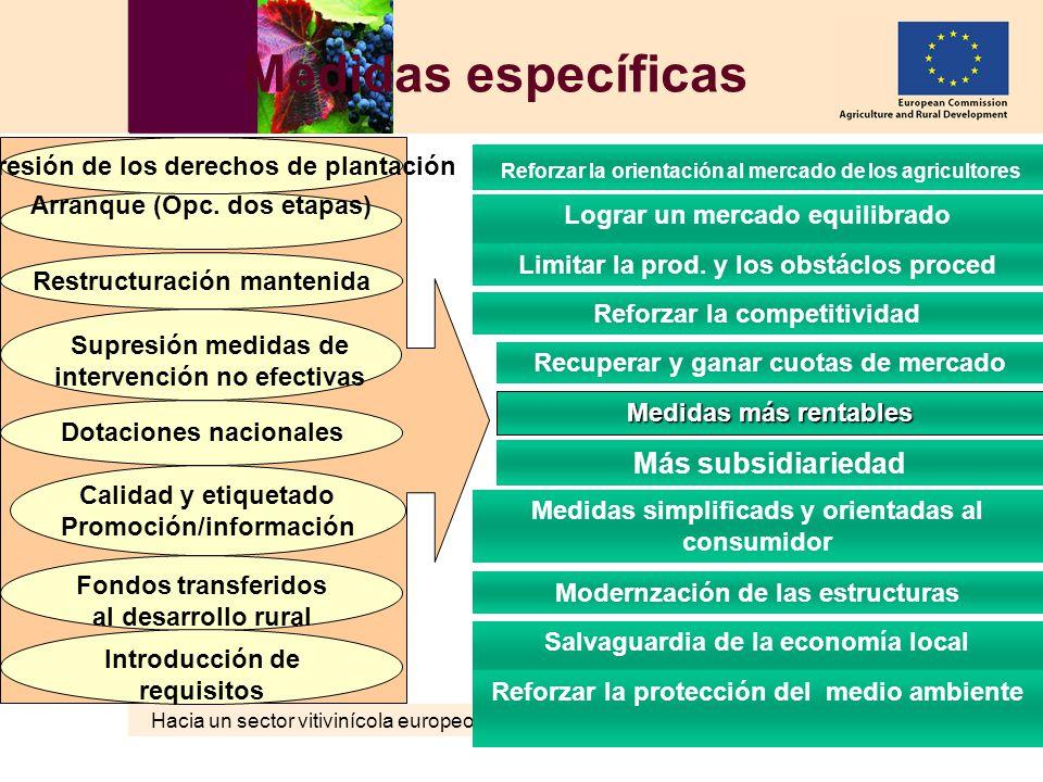 Hacia un sector vitivinícola europeo sostenible AGRI – C3 MD 02.06.2006 29 Medidas específicas Salvaguardia de la economía local Medidas simplificads