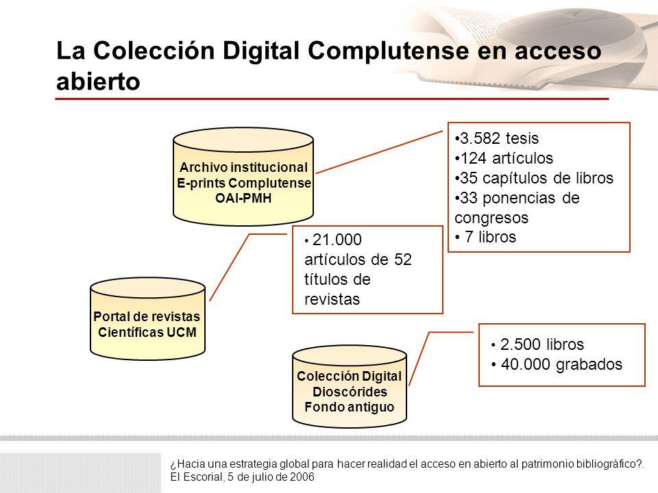Estructura de la colección Índice de Facultades y Departamentos de la Universidad Complutense.