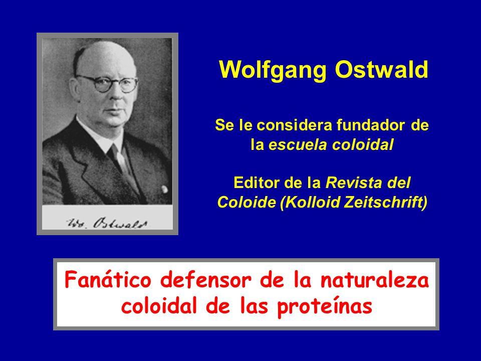 Se le considera fundador de la escuela coloidal Editor de la Revista del Coloide (Kolloid Zeitschrift) Wolfgang Ostwald Fanático defensor de la natura
