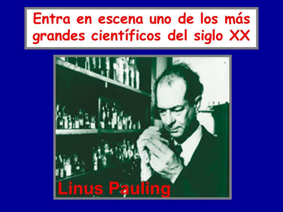 Linus Pauling Entra en escena uno de los más grandes científicos del siglo XX