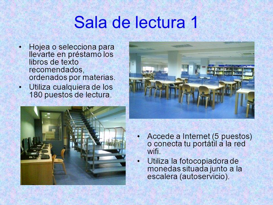Sala de lectura 2 Hojea y/o selecciona para llevarte en préstamo los libros de texto recomendados, ordenados por materias.