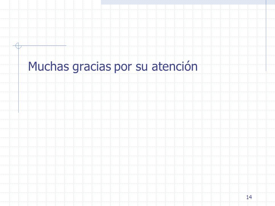 14 Muchas gracias por su atención