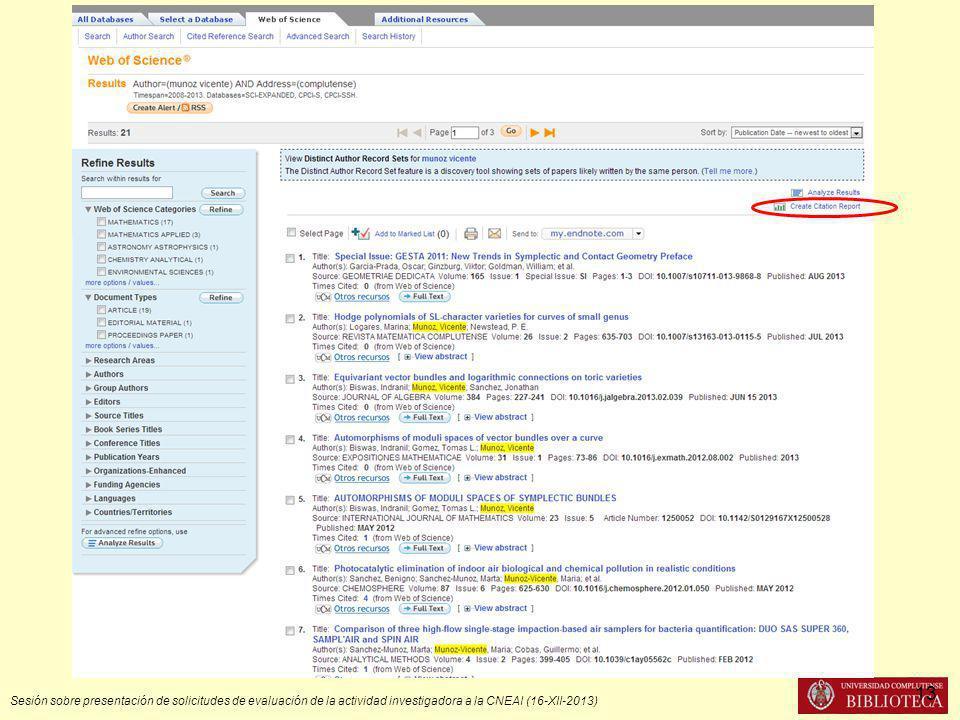 Sesión sobre presentación de solicitudes de evaluación de la actividad investigadora a la CNEAI (16-XII-2013) 13