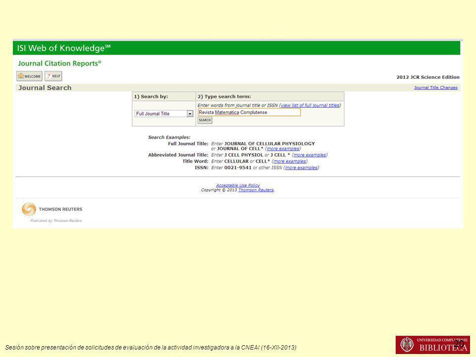 Sesión sobre presentación de solicitudes de evaluación de la actividad investigadora a la CNEAI (16-XII-2013) 20