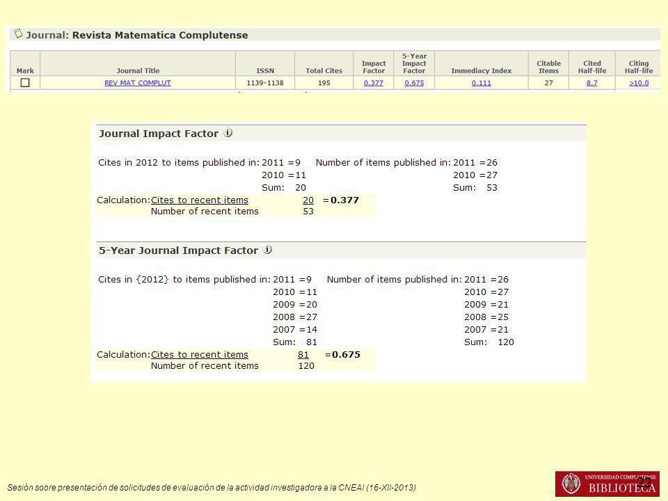Sesión sobre presentación de solicitudes de evaluación de la actividad investigadora a la CNEAI (16-XII-2013) 22