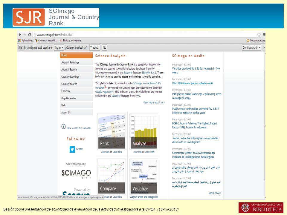 MIAR Es un sistema para medir la visibilidad de las revistas Ciencias sociales y Humanidades Presencia en bases de datos No atiende a otros criterios de calidad