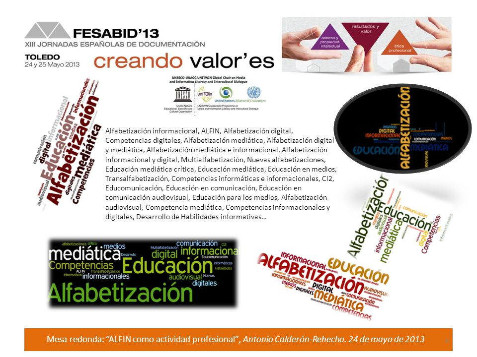 Mesa redonda: ALFIN como actividad profesional, Antonio Calderón-Rehecho.