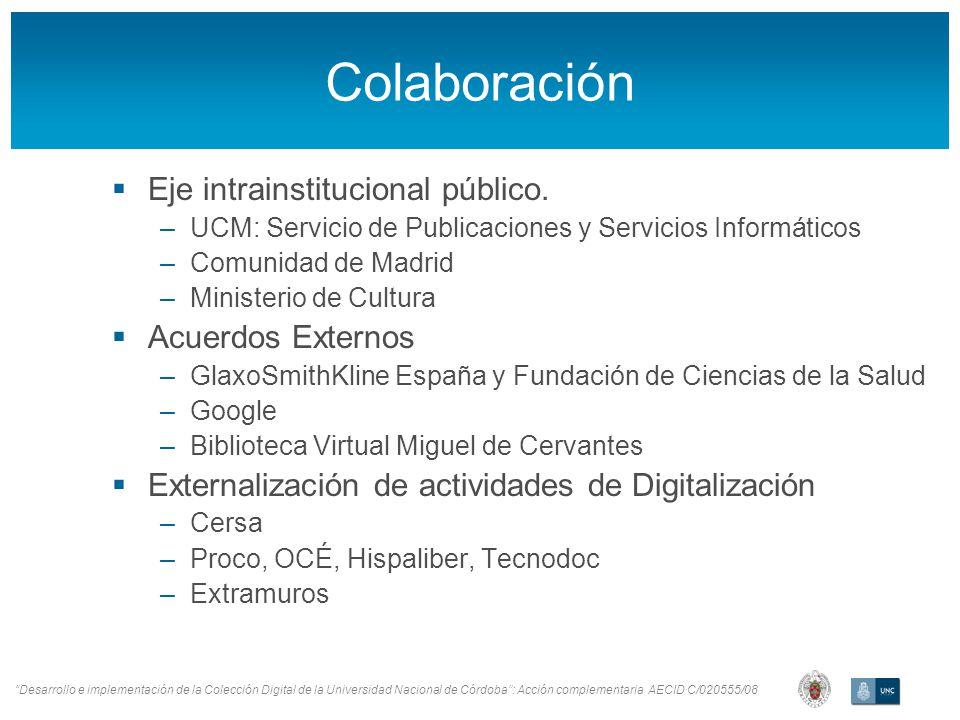 Colaboración Eje intrainstitucional público.