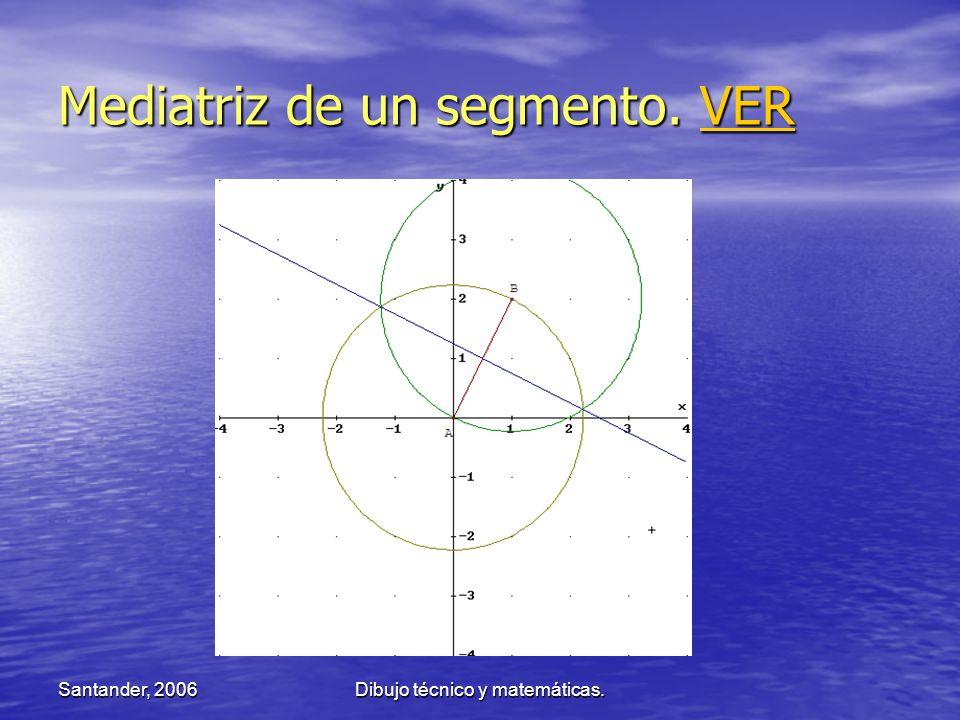 Santander, 2006Dibujo técnico y matemáticas. Mediatriz de un segmento. VER VER