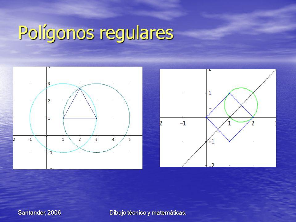Santander, 2006Dibujo técnico y matemáticas. Polígonos regulares
