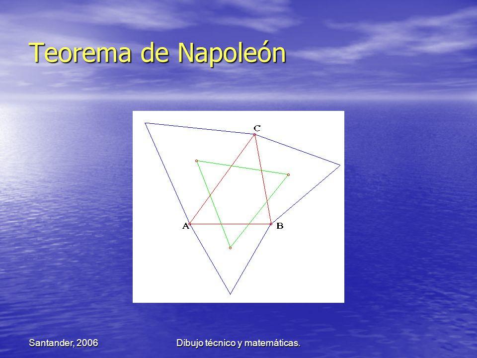 Santander, 2006Dibujo técnico y matemáticas. Teorema de Napoleón