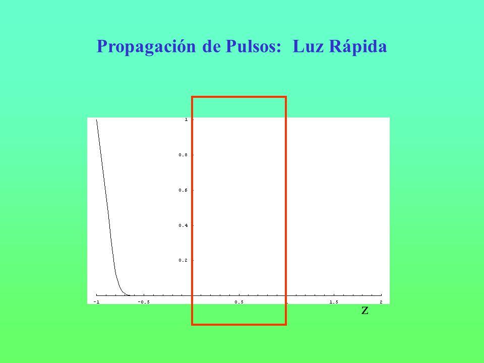 Propagación de Pulsos: Luz Rápida z