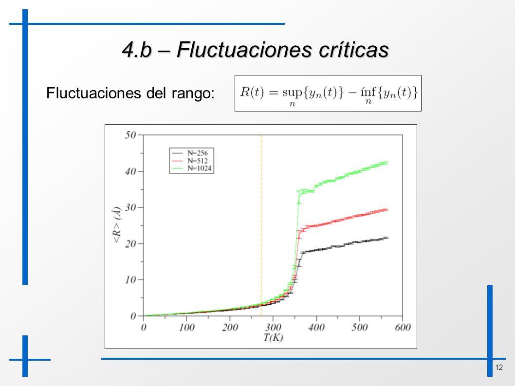 12 4.b – Fluctuaciones críticas Fluctuaciones del rango: