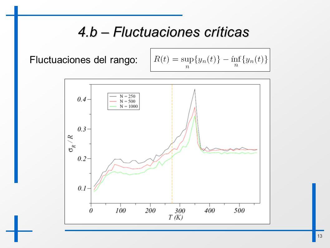 13 4.b – Fluctuaciones críticas Fluctuaciones del rango:
