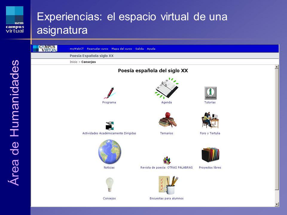 1ª JORNADA CAMPUS VIRTUAL UCM 6 de Mayo de 2004 Experiencias: el espacio virtual de una asignatura