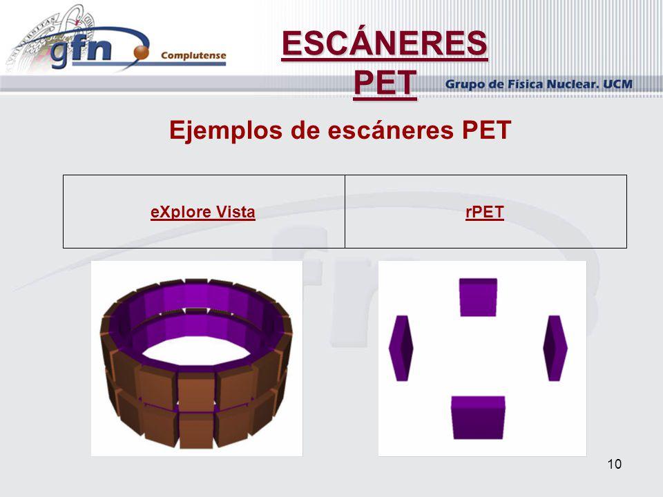 10 ESCÁNERES PET Ejemplos de escáneres PET rPETeXplore Vista