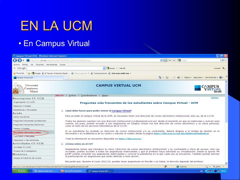 EN LA UCM En Campus Virtual