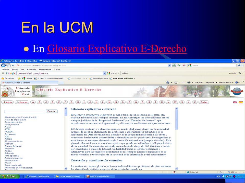 En la UCM En Glosario Explicativo E-DerechoGlosario Explicativo E-Derecho
