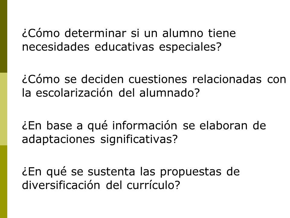 ¿Cómo determinar si un alumno tiene necesidades educativas especiales.