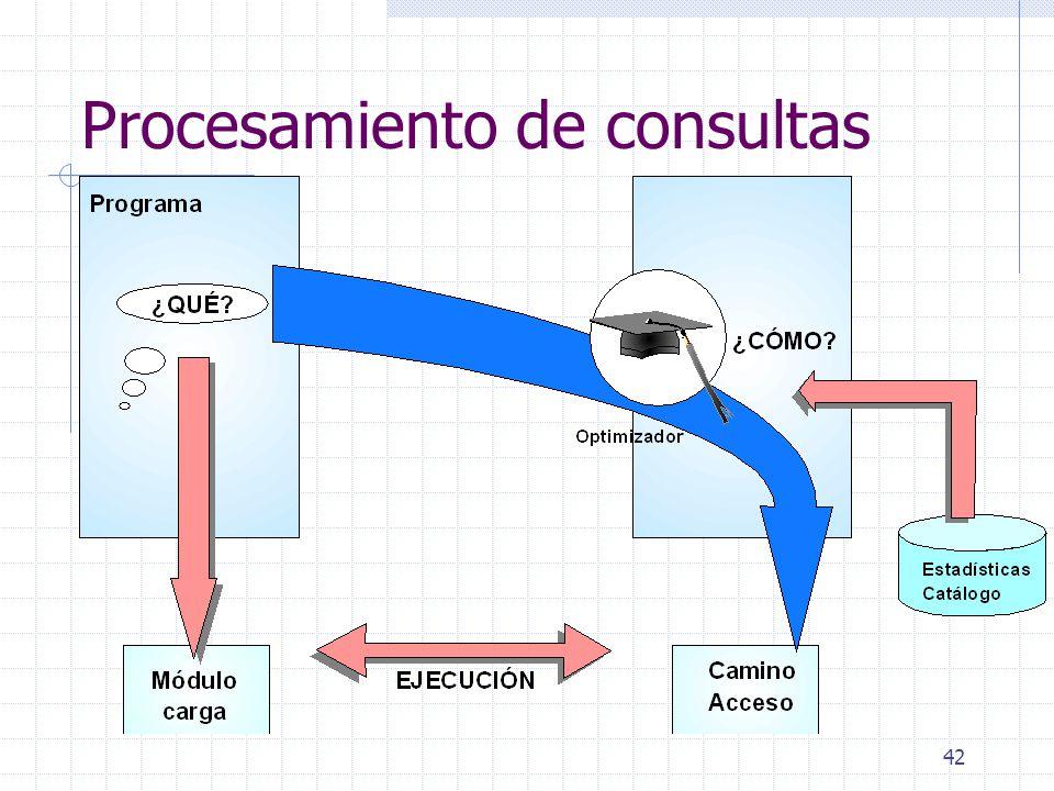 42 Procesamiento de consultas