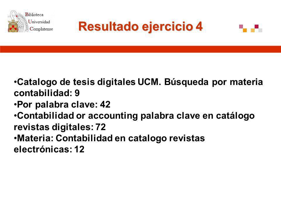 Resultado ejercicio 4 Catalogo de tesis digitales UCM.