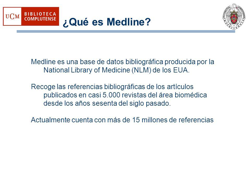 en Pubmed y en Medline Es recomendable utilizar el MeSH Medical Subject Headings (Descriptores de Ciencias de la Salud).