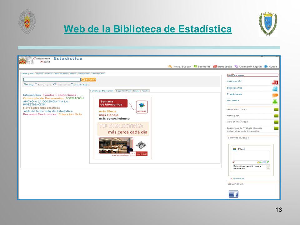 Web de la Biblioteca de Estadística 18