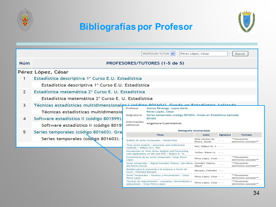 Bibliografías por Profesor 34