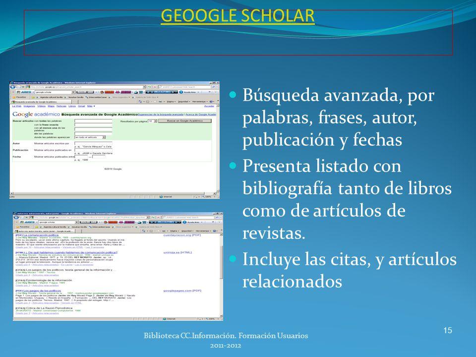 WEB OF SCIENCES WEB OF SCIENCES ISI- Web of Knowledge Para buscar citas recibidas por un autor buscar en el campo: «cited reference searche «.